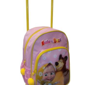 Masha e Orso Rosa Zaino con Trolley